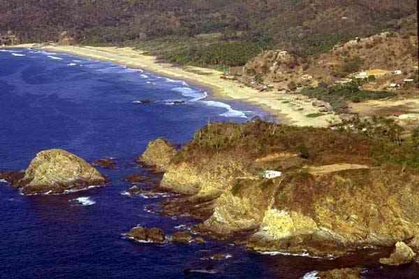 Vista de la playa de Zipolite