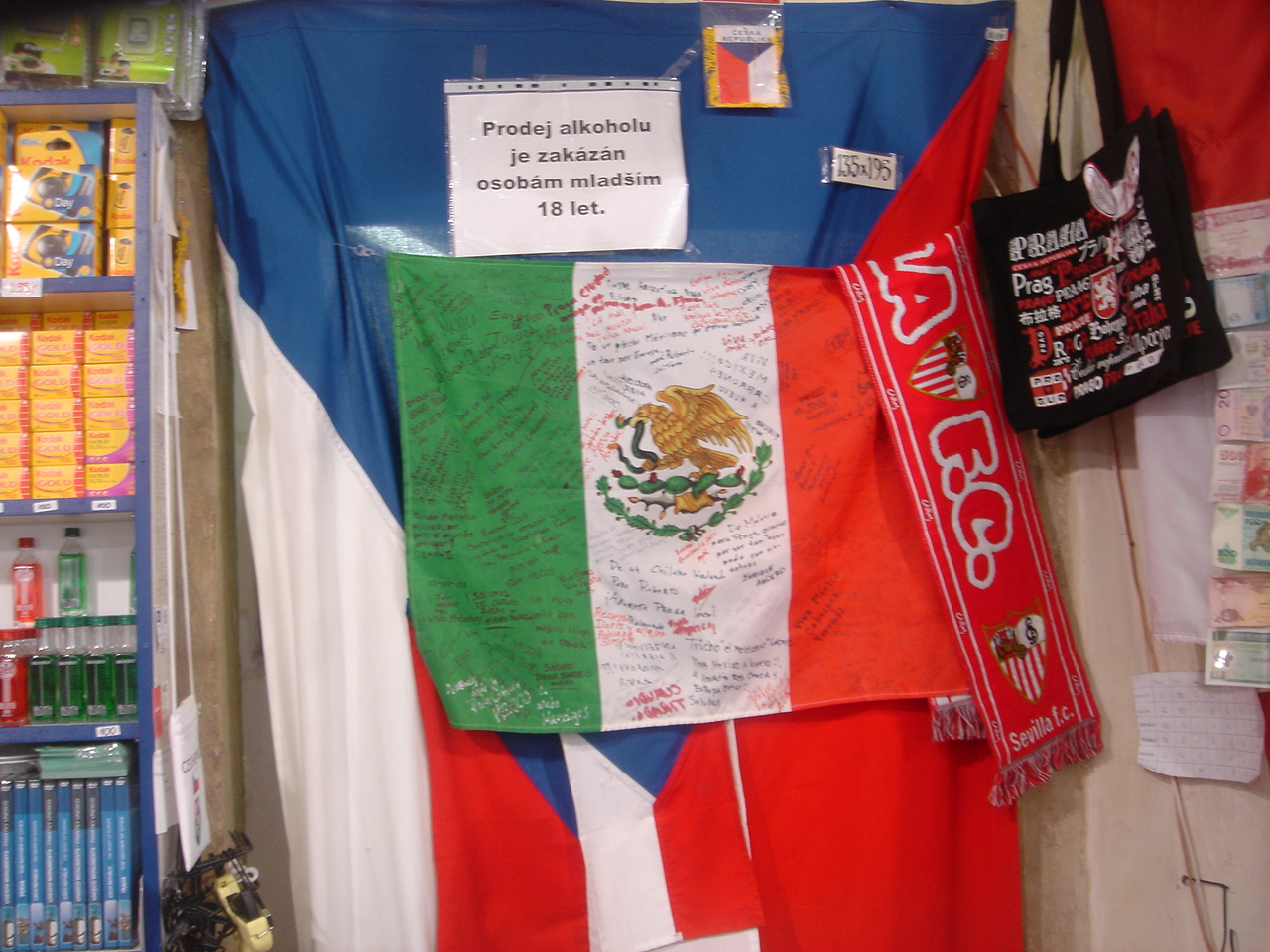 Bandera México Praga