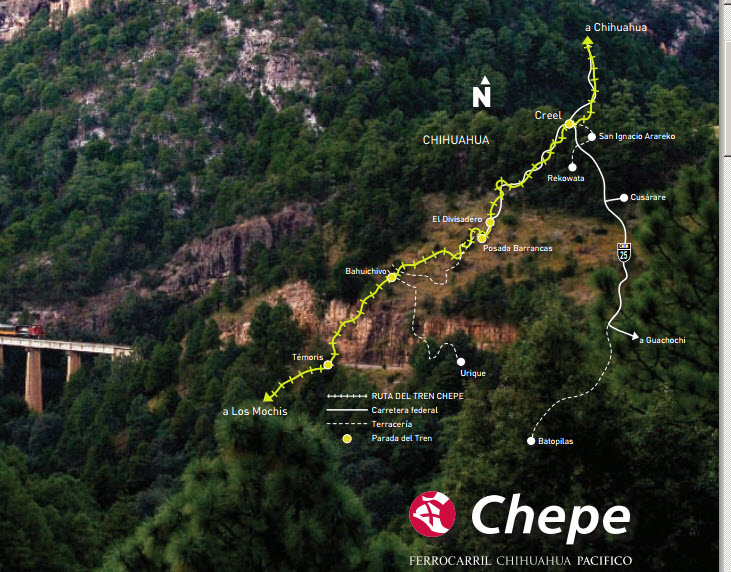 mapa recorrido el chepe