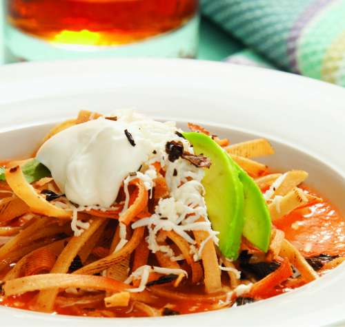 Receta De La Sopa De Tortilla O Sopa Azteca