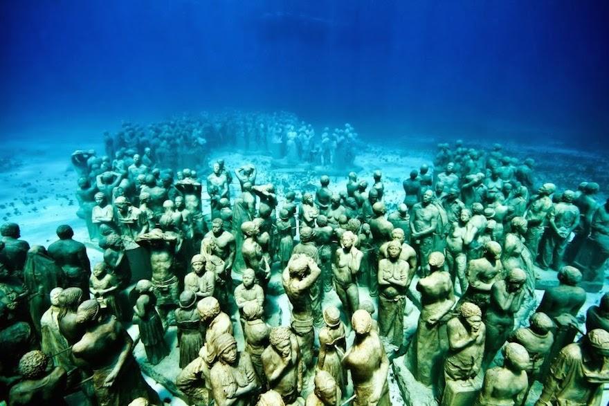 Museo Bajo el agua en Cancun