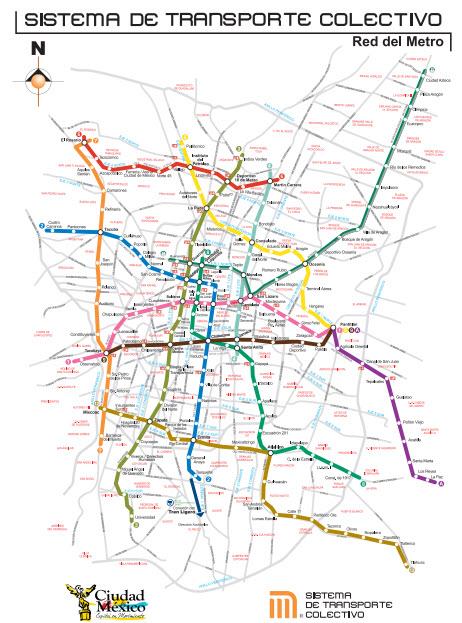 mapa del metro df