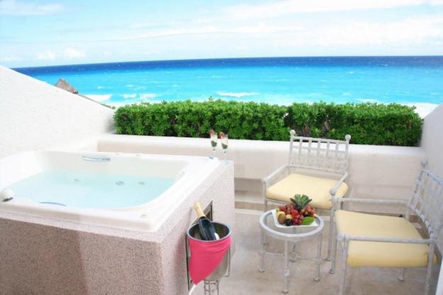 Baño Relajante En Jacuzzi:Hoteles con Jacuzzi en Cancún