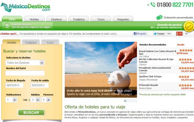 agencia de viajes con facilidades de pago mexicodestinos