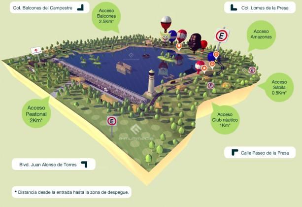 mapa festival del globo