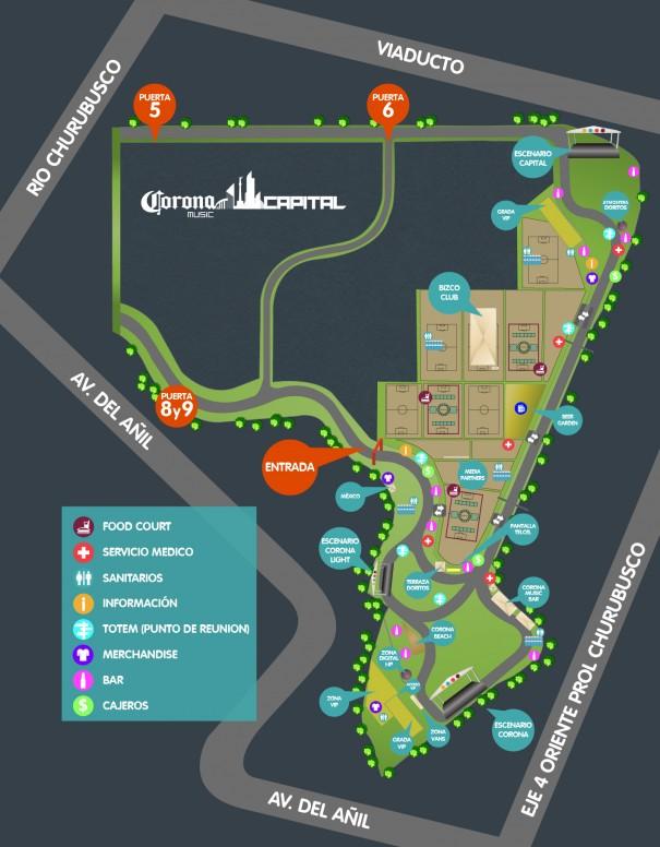 Gu a para ir a eventos en el foro sol ciudad de m xico for Puerta 2 autodromo hermanos rodriguez