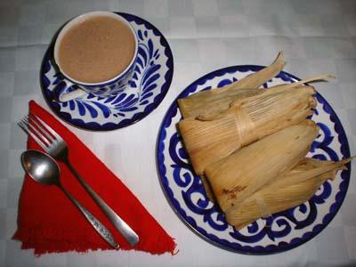 Tamales y atole