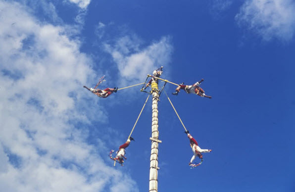 Parque Xcaret - Voladores Papantla