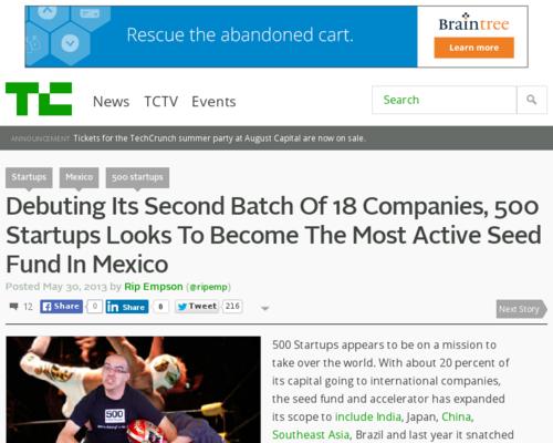 MexicoDestinos en Techcrunch