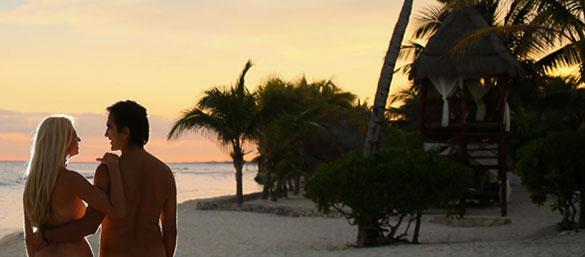 Paraisos sin ropa en la Riviera Maya
