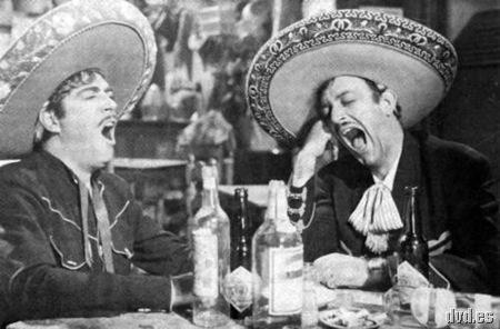 Mexicanos y el tequila