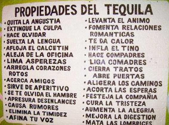 Propiedades del Tequila