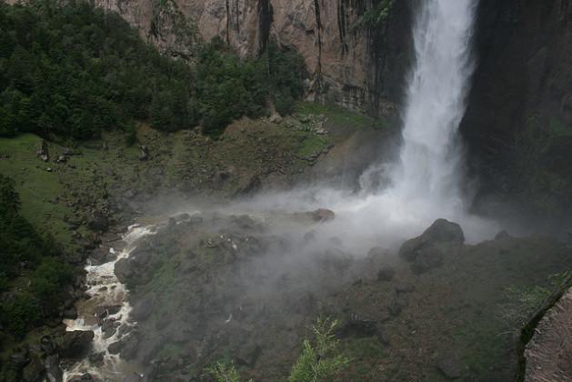 Vista desde arriba Cascada