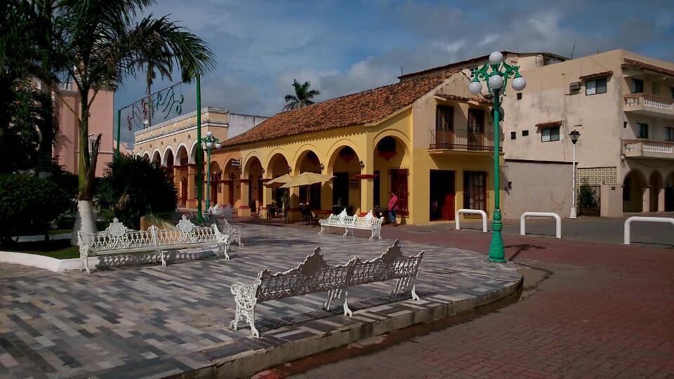 Parque en Tlacotalpan