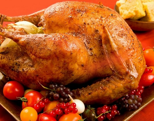smoked Christmas turkey for dinner