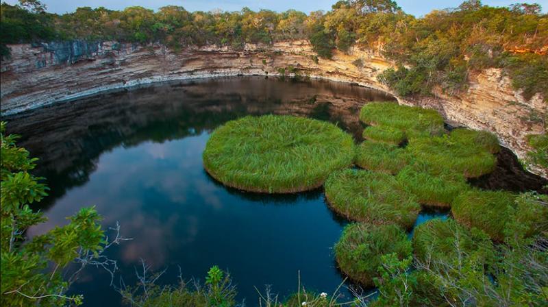 El Zacatón, de los tres cenotes de Aldama