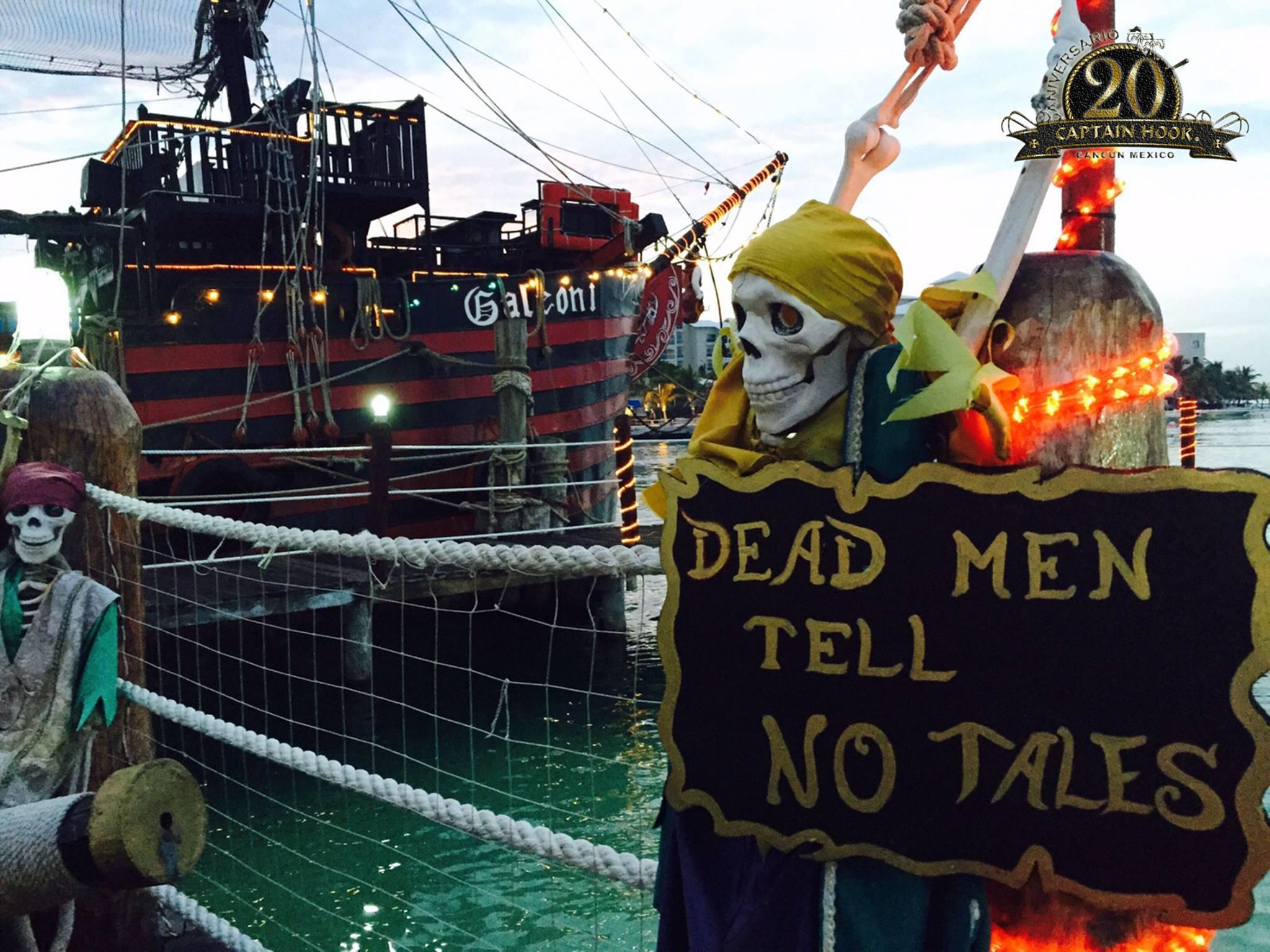 tour-en-cancun-capitan-hook-barco-pirata