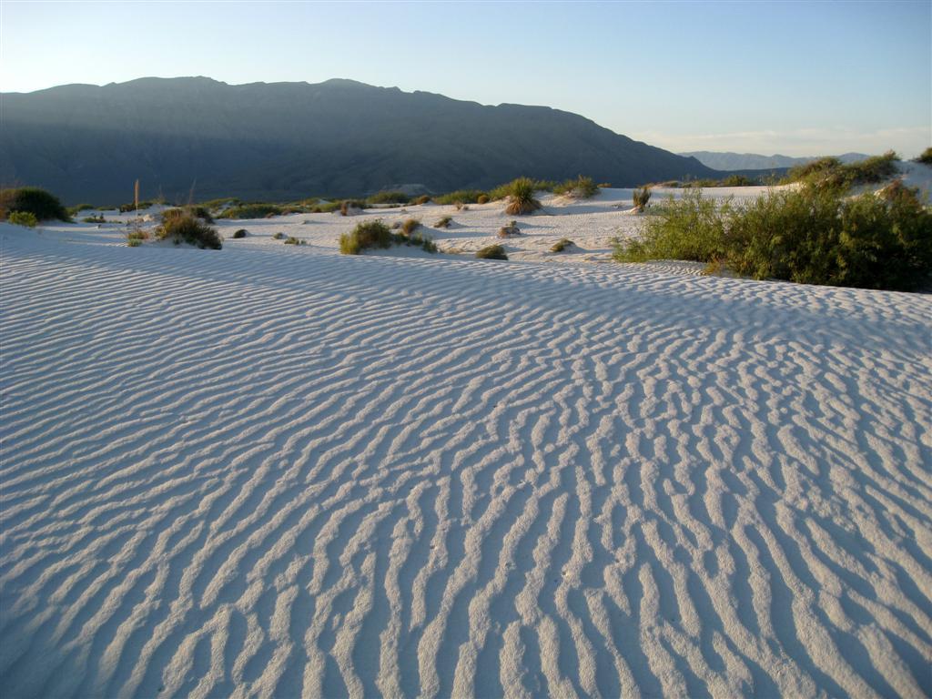 panorámica de las dunas de yeso
