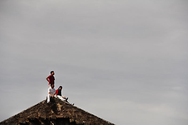 En la cima de la iglesia