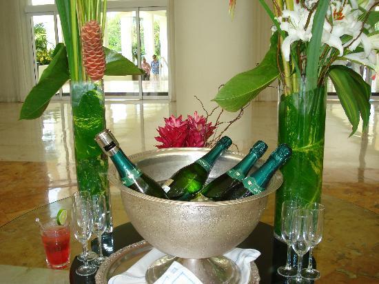 Hotel Dorado Royale Riviera Maya Champagne de bienvenida