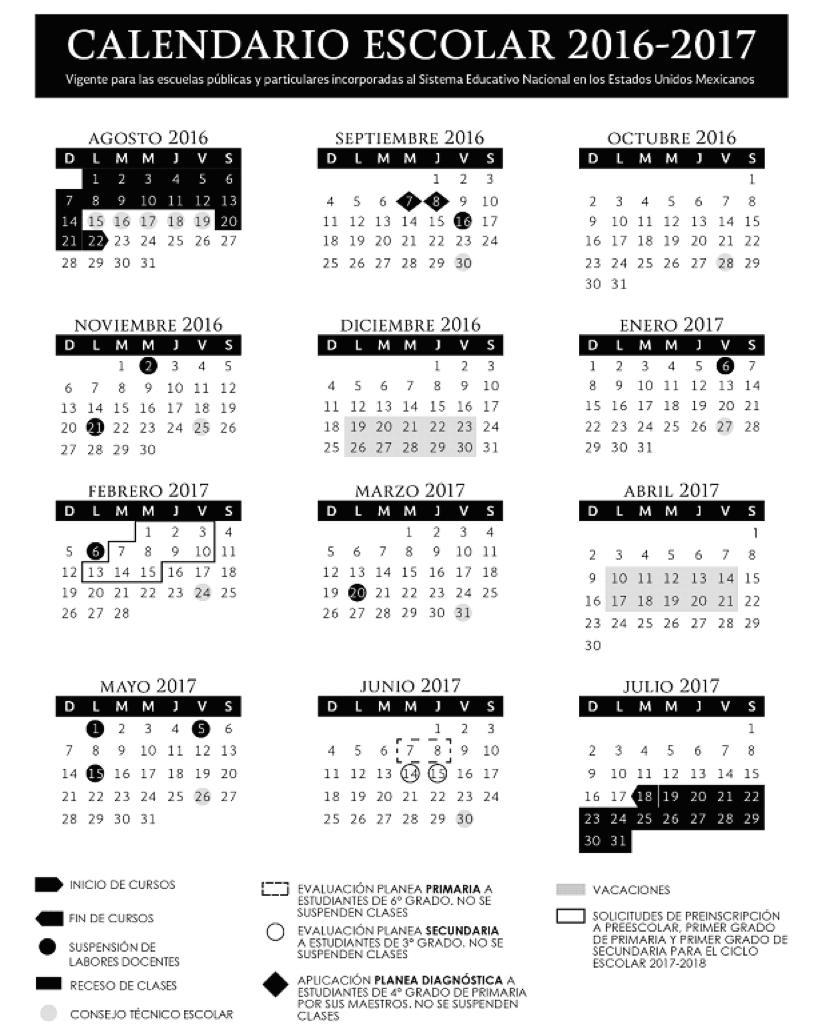 Cuando Inician las Vacaciones de Verano 2017