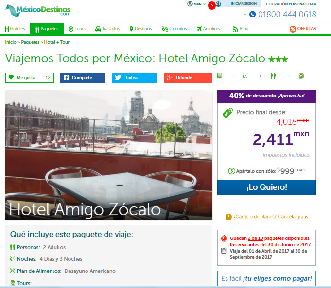 Paquetes a la Ciudad de México