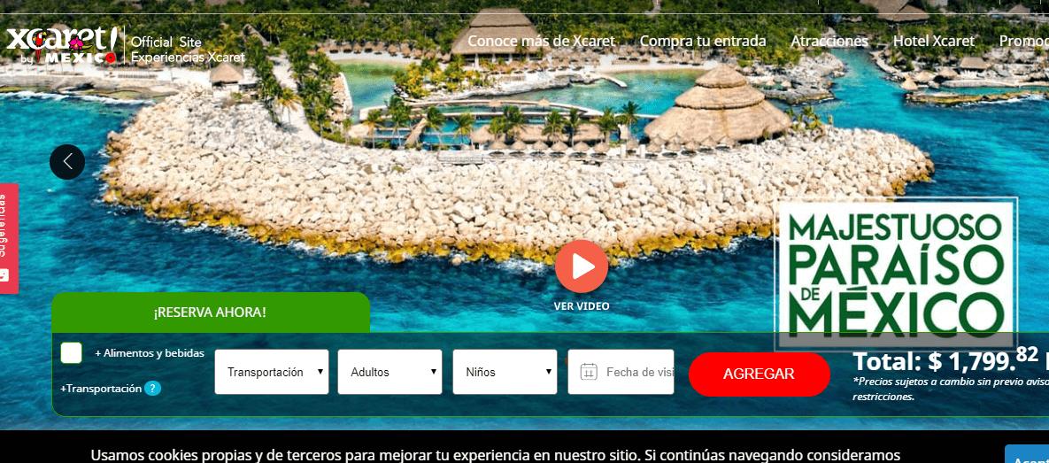 Pagina Oficial Boletos Xcaret
