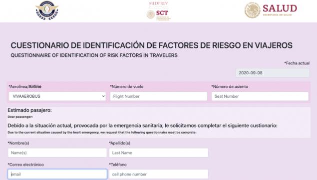 equisitos para viajar en avión dentro de México